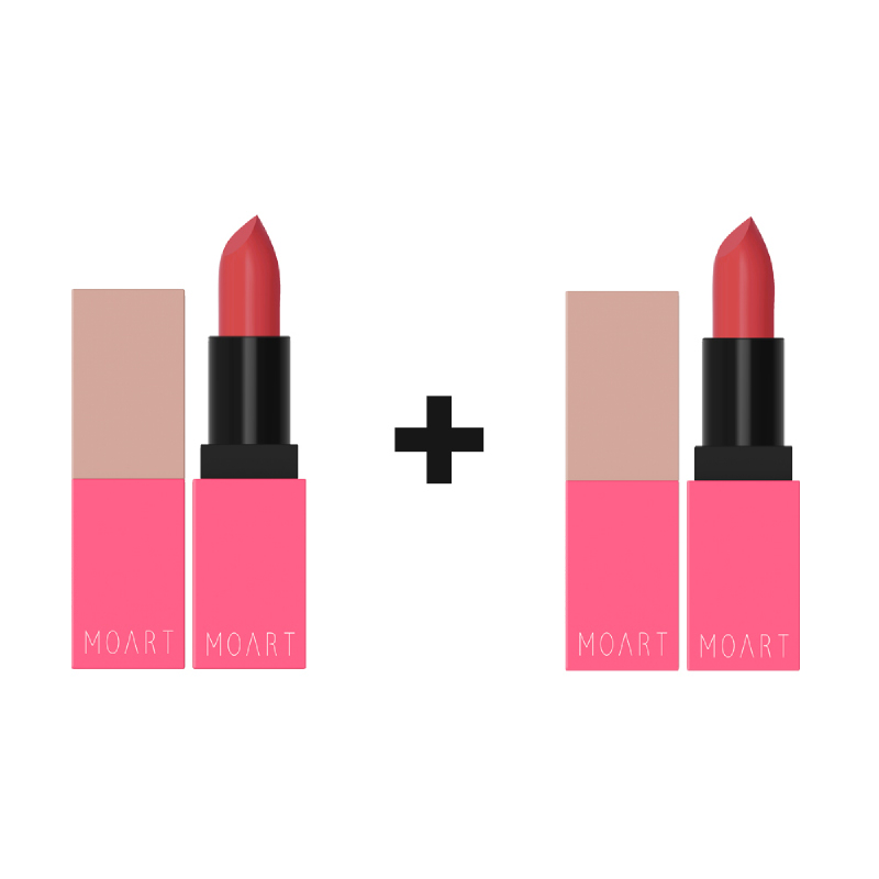 Moart Velvet Lipstick - Daintily Y4 (1+1)