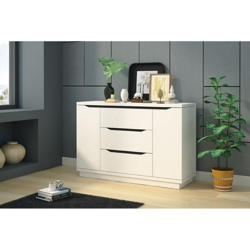 Anya Living Rak Penyimpanan-Buffet CR 013 White Glossy