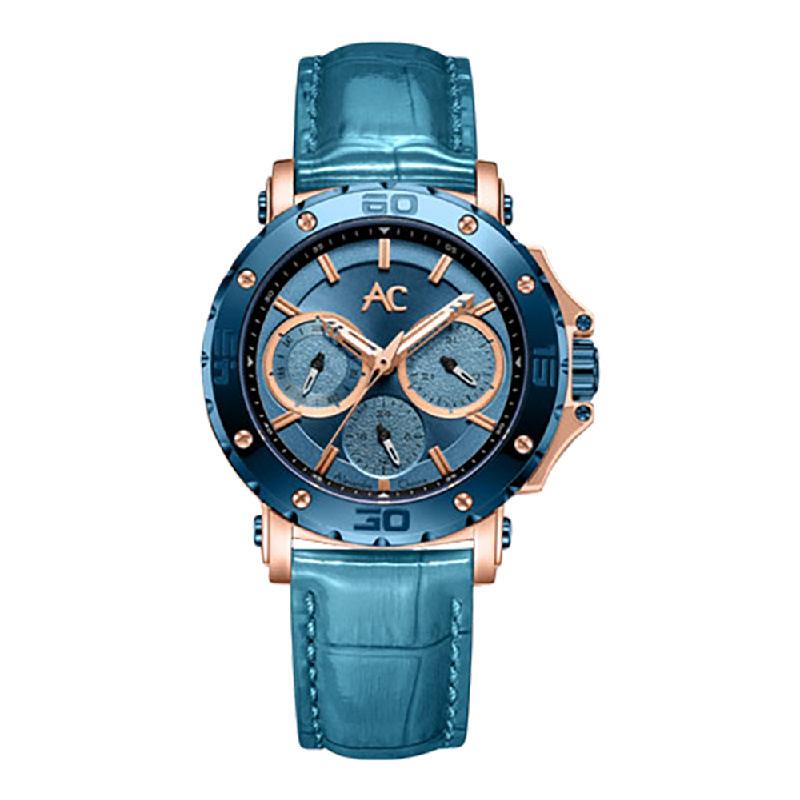 Alexandre Christie AC 9205 BFLURLB LadiesBlue Dial Blue Leather Strap