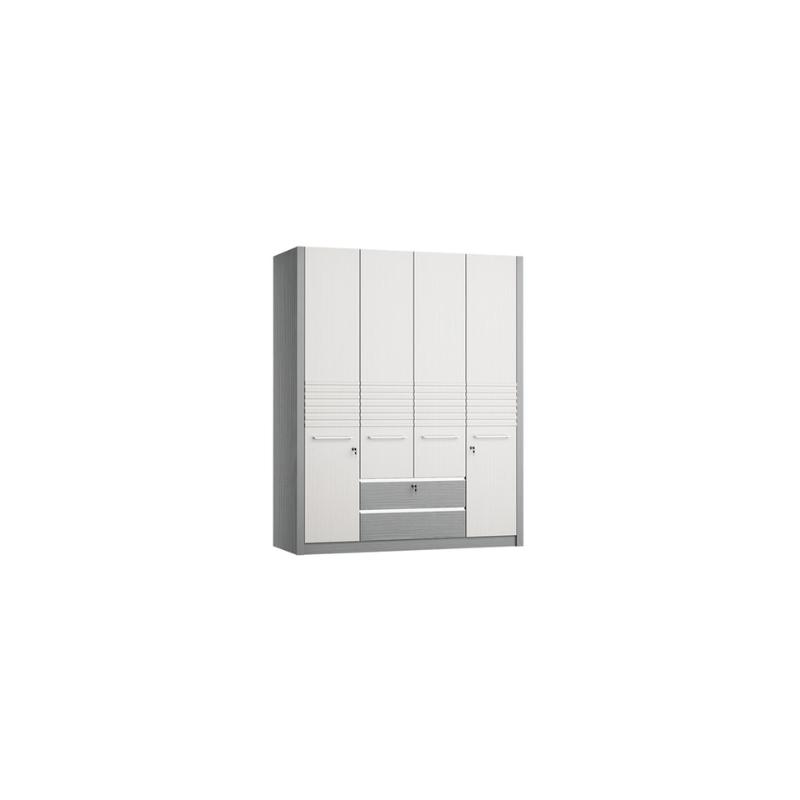Anya-Living Lemari Pakaian 389 SW - White Grey