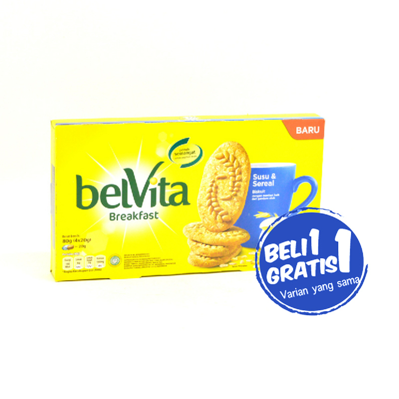 Belvita Milk And Cereal 80 Gr [4 x 20 Gr] (Buy 1 Get 1)