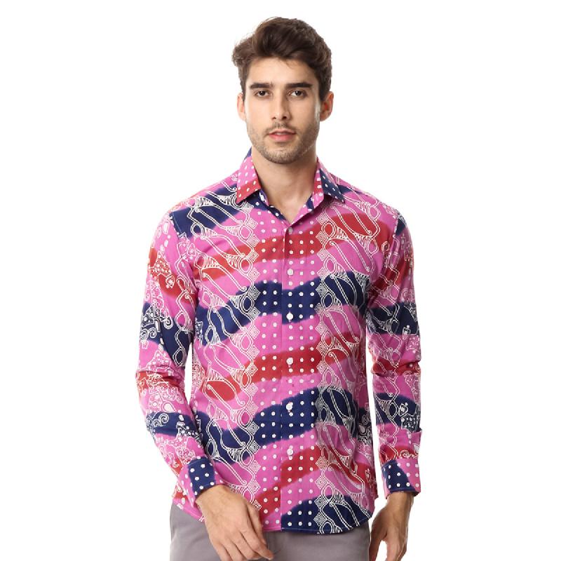 Agrapana Batik Lengan Panjang Muscle Fit 105.22.862.02.Pink