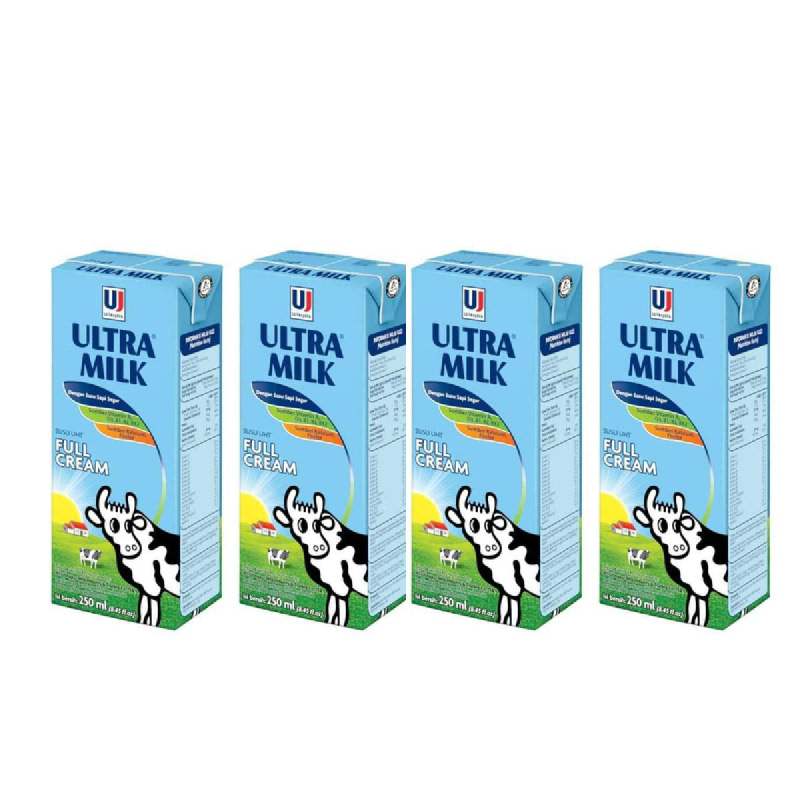 Ultra Milk Plain 250 Ml (Get 4)