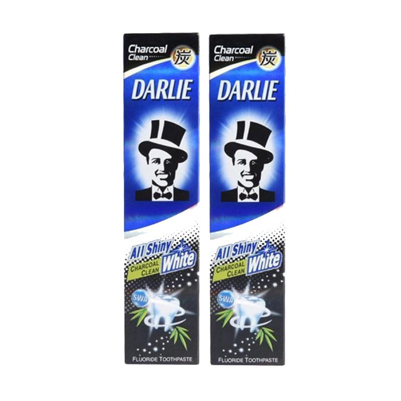 Darlie Pasta Gigi All Shiny White Charcoal 140 Gr (Buy 1 Get 1)