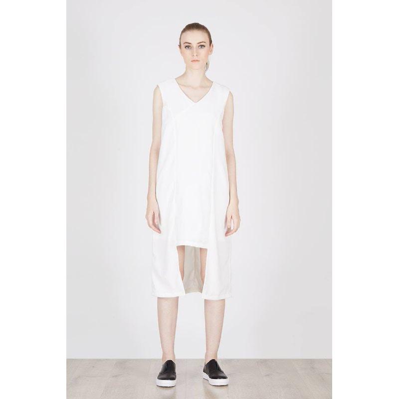 Prisca Asymetric Dress White