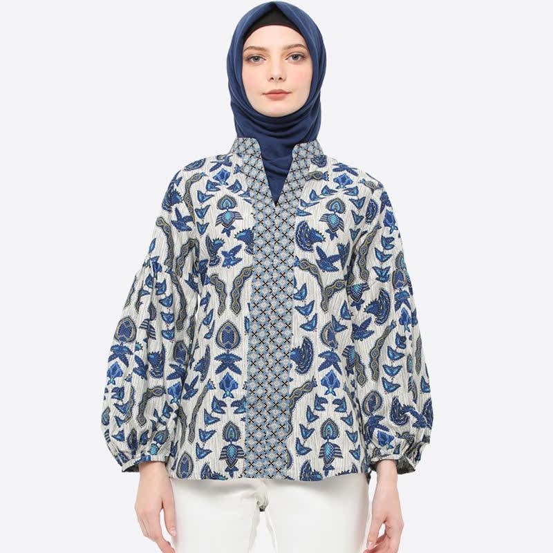Anakara Sultana Blouse Grebiru Blue