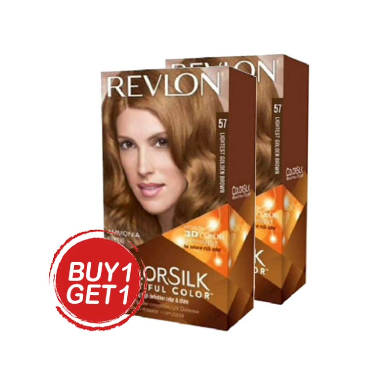 Revlon Hair Colorsilk Lightest Golden Brown (Buy 1 Get 1)