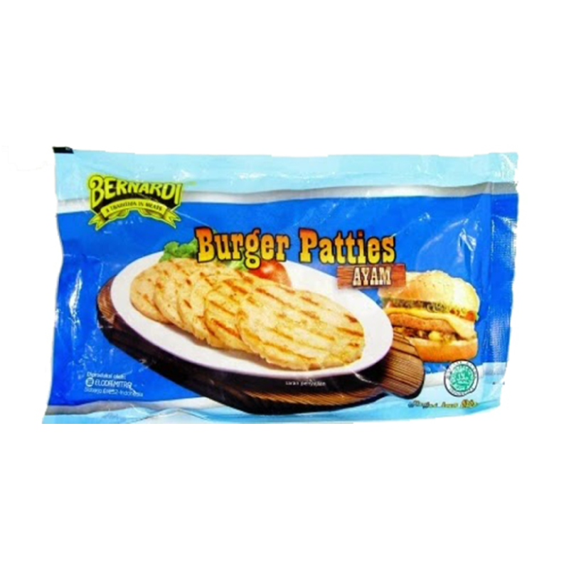 Bernardi Burger Patties Ayam 270 Gr Isi 6 Pcs