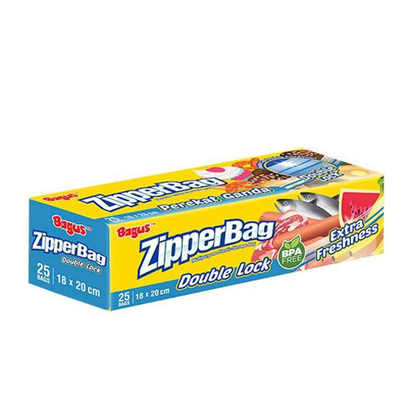 Bagus Zipper  Bag With Double Zipper 25'