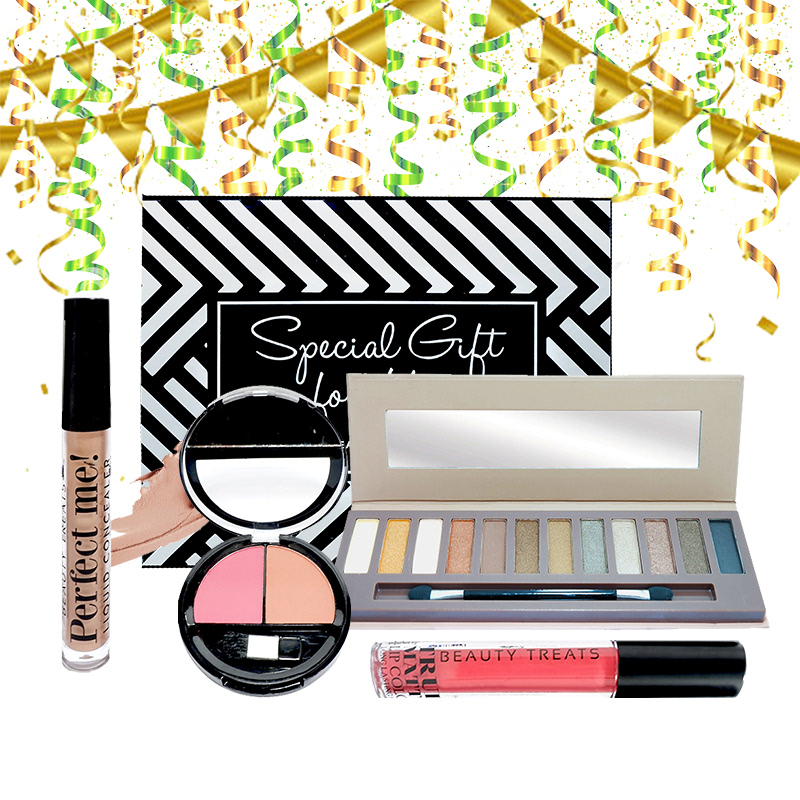 Beauty Hampers (Naked Eyeshadow Set 2 + Duo Blush No 2 + True Matte Lip Color No 2 + Perfect Me Liquid Concealer)