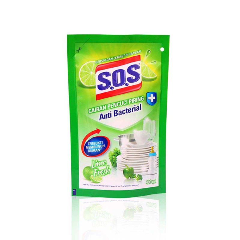 S.O.S Pencuci Piring Lime Fresh Refill 400 Ml