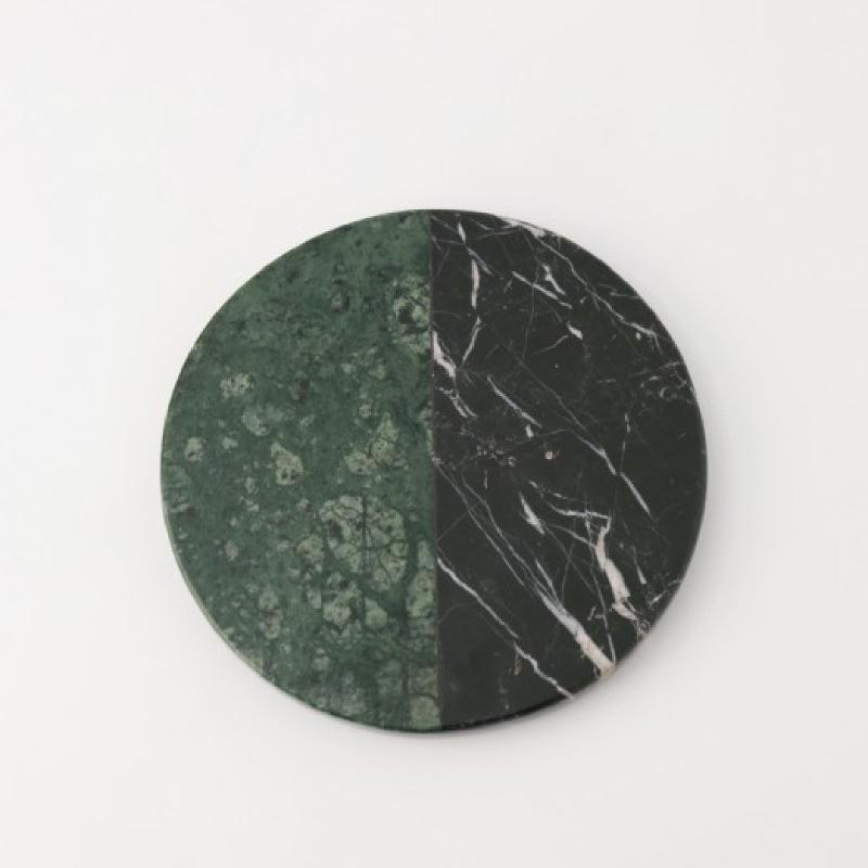 Round Emerald - Black Zircon Marble - Multicolor