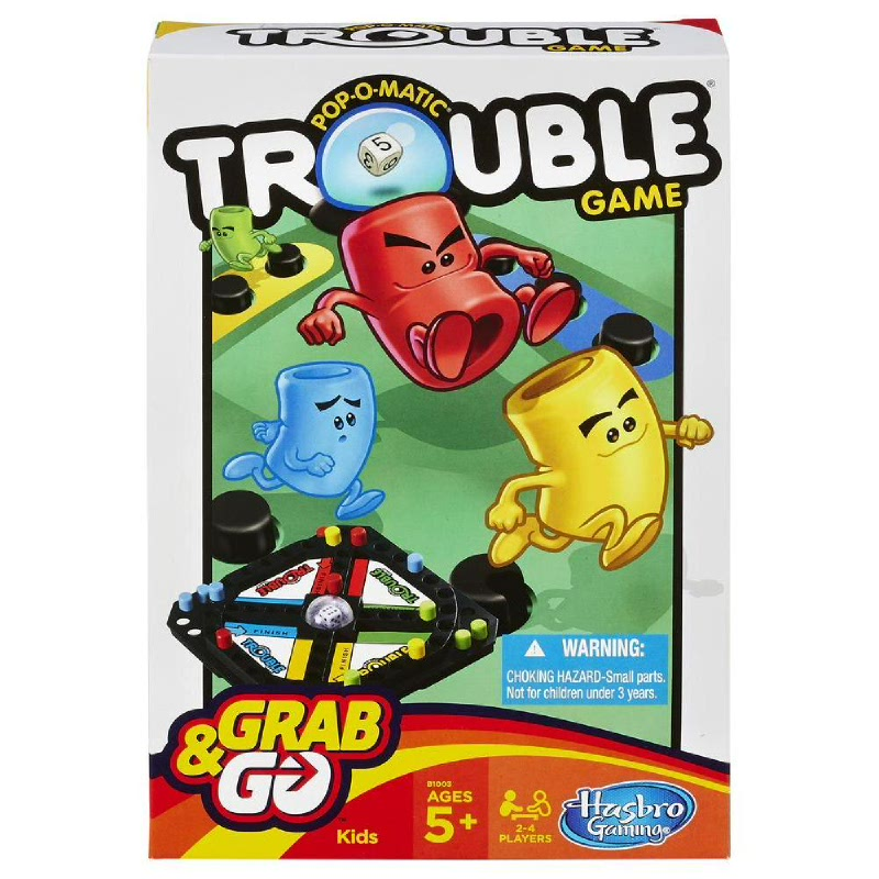 Hasbro Games Pop-O-Matic Trouble Grab & Go Game