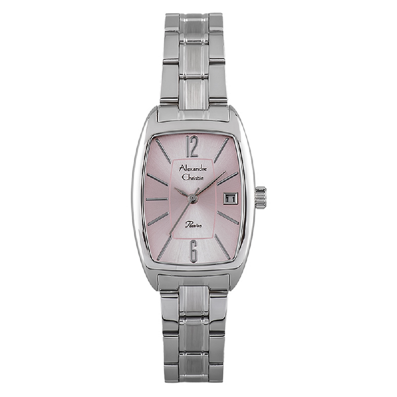 Alexandre Christie AC 2456 LD BSSPN Ladies Passion Pink Dial Stainless Steel Strap