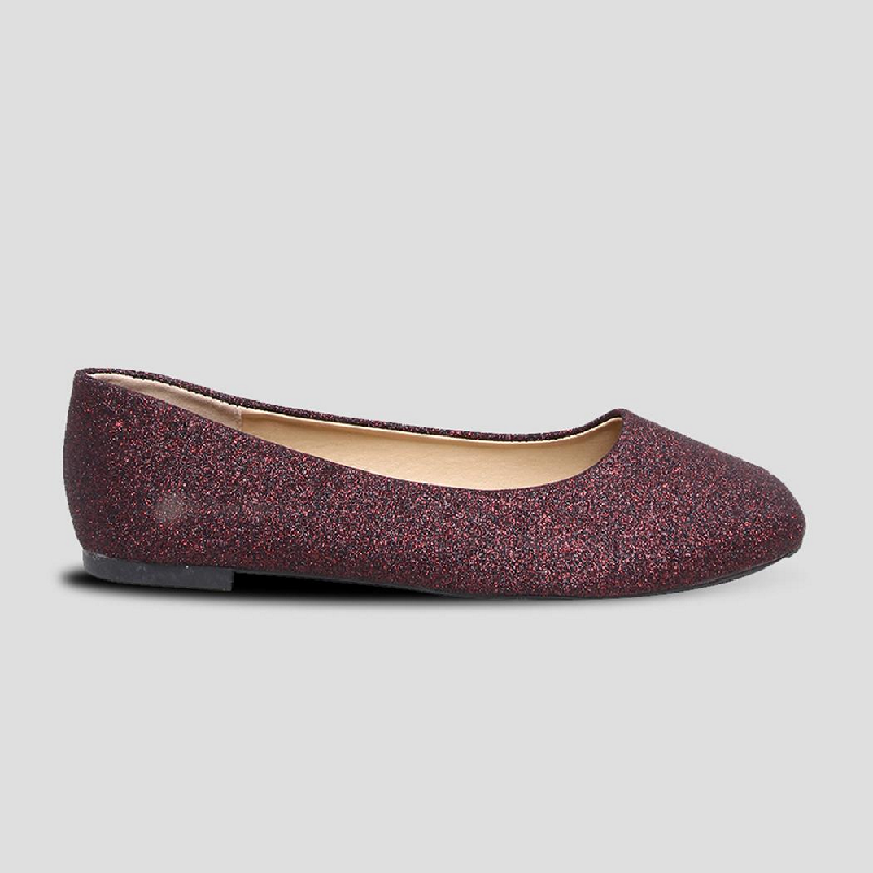 The Little Things She Needs Flat Shoes Caltavia Maroon
