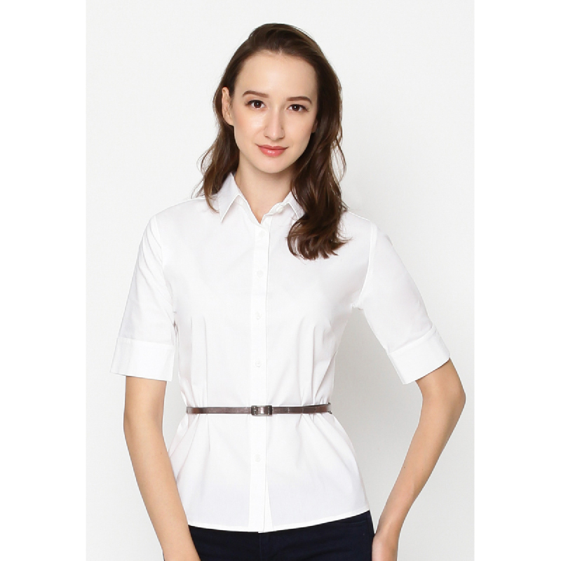 Agatha Basic Blouse In White White