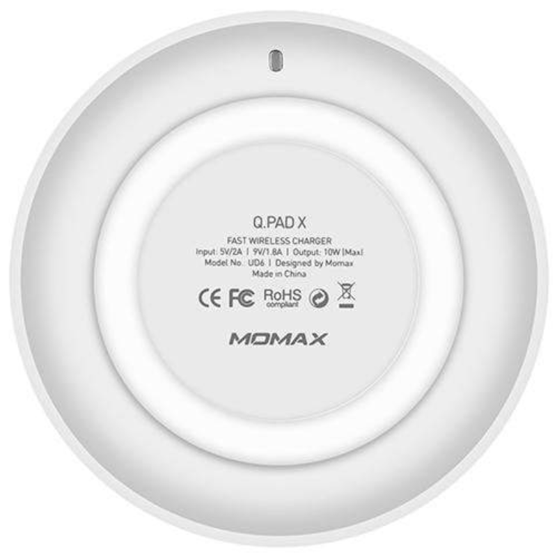 Momax MOMAX Q.PAD X FAST WIRELESS CHARGER WHITE [UD6W]