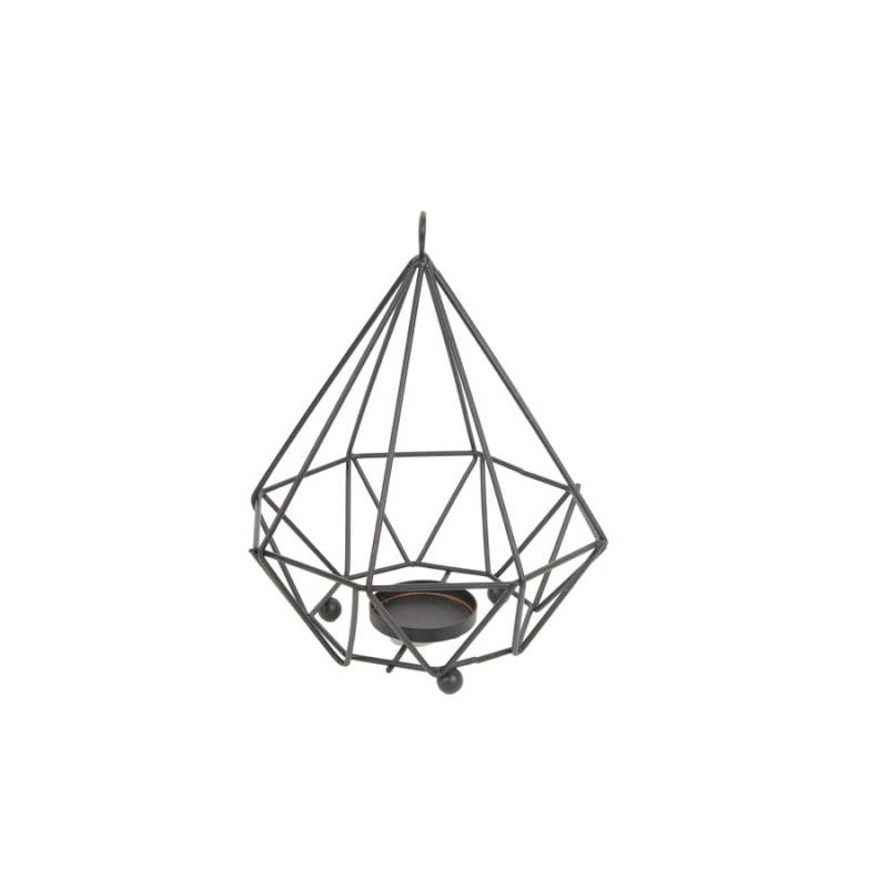 JYSK Candle Holder Diamond 16Da213 D17Xh19Cm Black