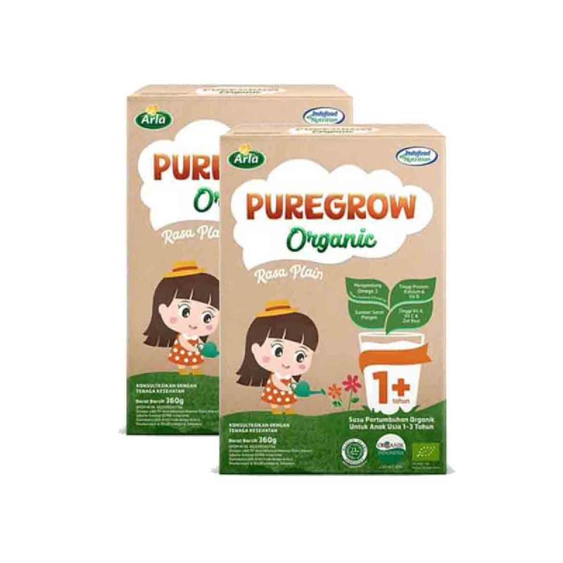 Arla Susu Bubuk Puregrow Girl 1+ 360 Gr (Get 2)