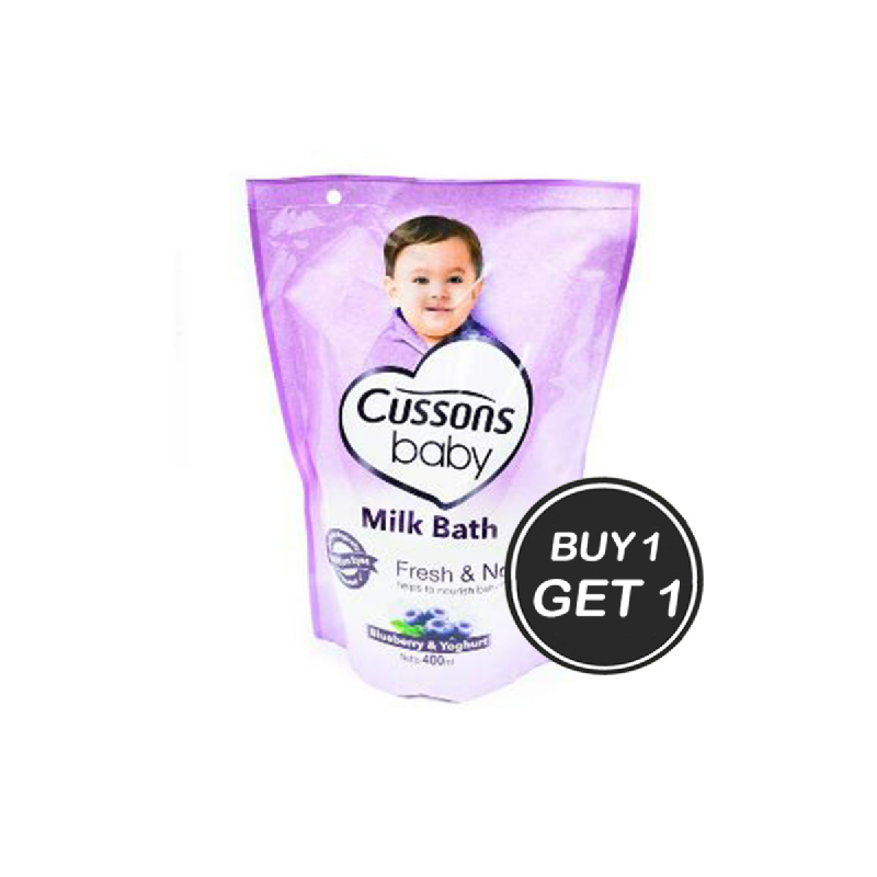 Cussons Baby Wash Happy Fresh Pouch 400 Ml (Buy 1 Get 1)