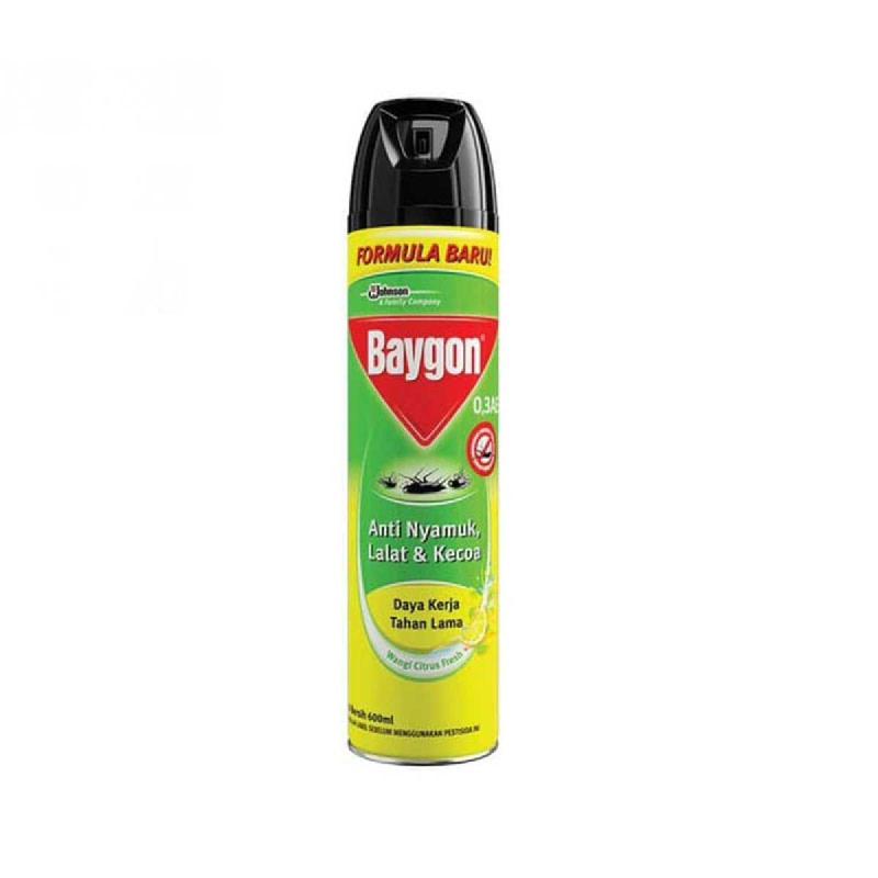 Baygon Aerosol Insecticide Citrush Fresh 600 Ml
