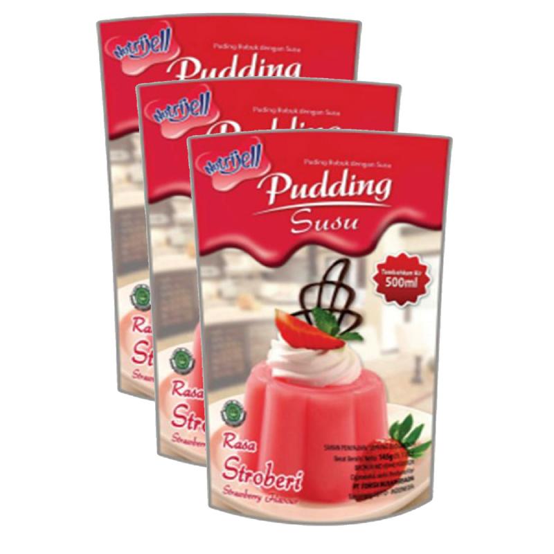 Nutrijell Puding Susu Strawberry 145 Gr (Buy 2 Get 1)