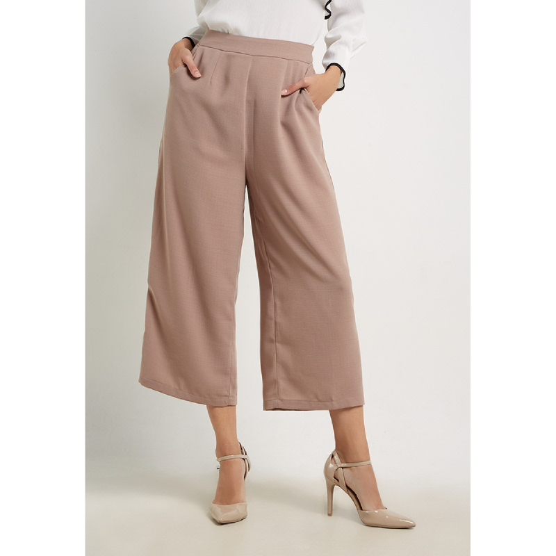 The B club Wide Leg Style Culottes Brown