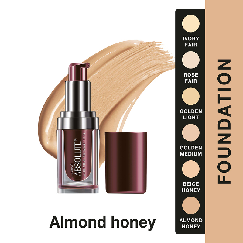Lakme Absolute Reinvent White Intense Skin Cover Foundation - Almond Honey