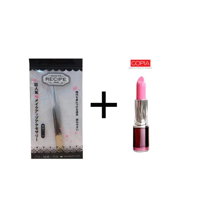 Beaute Recipe Acne Clip 1663 + Be Matte Lipstick Palevioletred