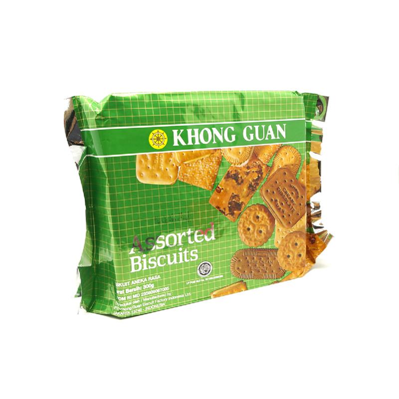 Khong Guan Assorted Green 275G [Pack]