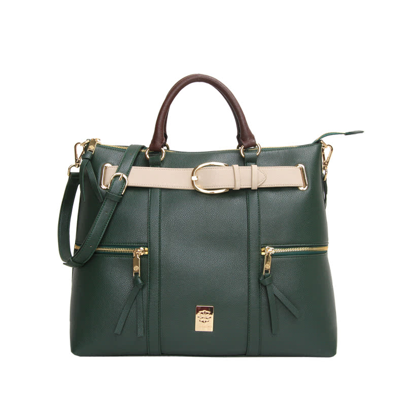 Les Catino New York Fifth Avenue Belt Tote Janis Green