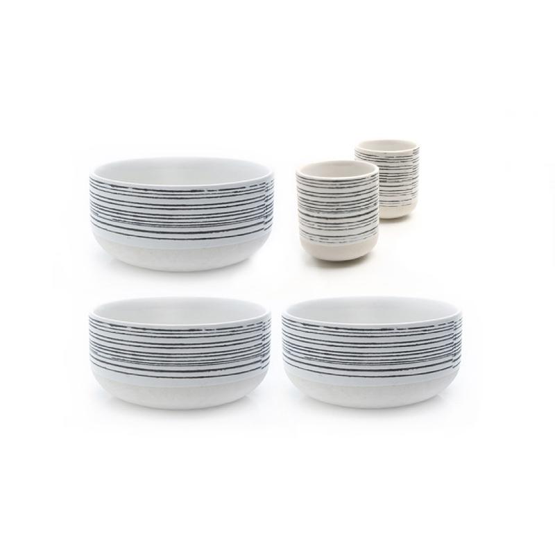 Uchii Paket Mangkuk Keramik Star Track Soup Set