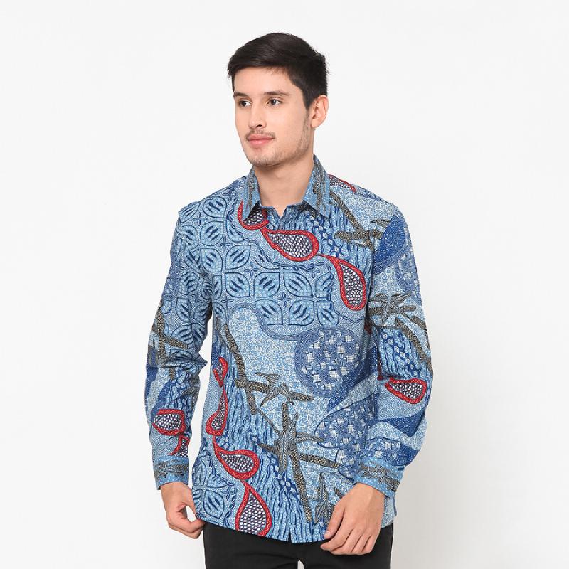 Asana Batik Lengan Panjang Bestala Blue