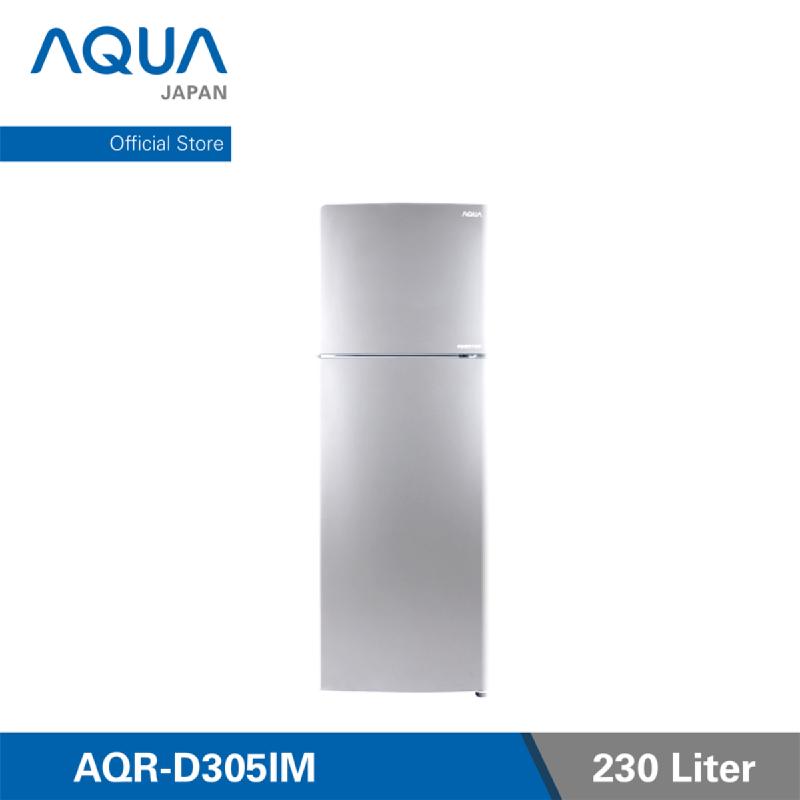 AQUA Kulkas 2 Pintu [230 L] AQR - D305IM - Light Silver