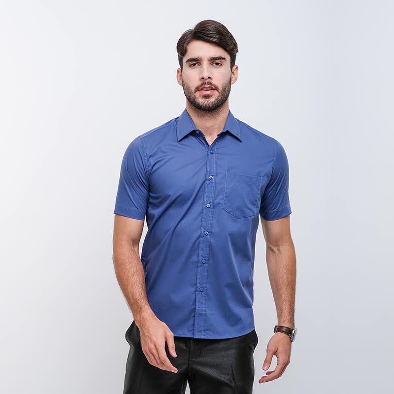 Gianni Visentin Slim Shirt Biru Tua
