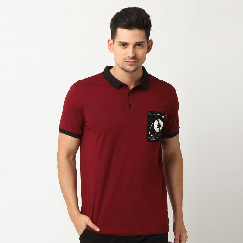 RBJ Polo Shirt 25675024 Merah Tua