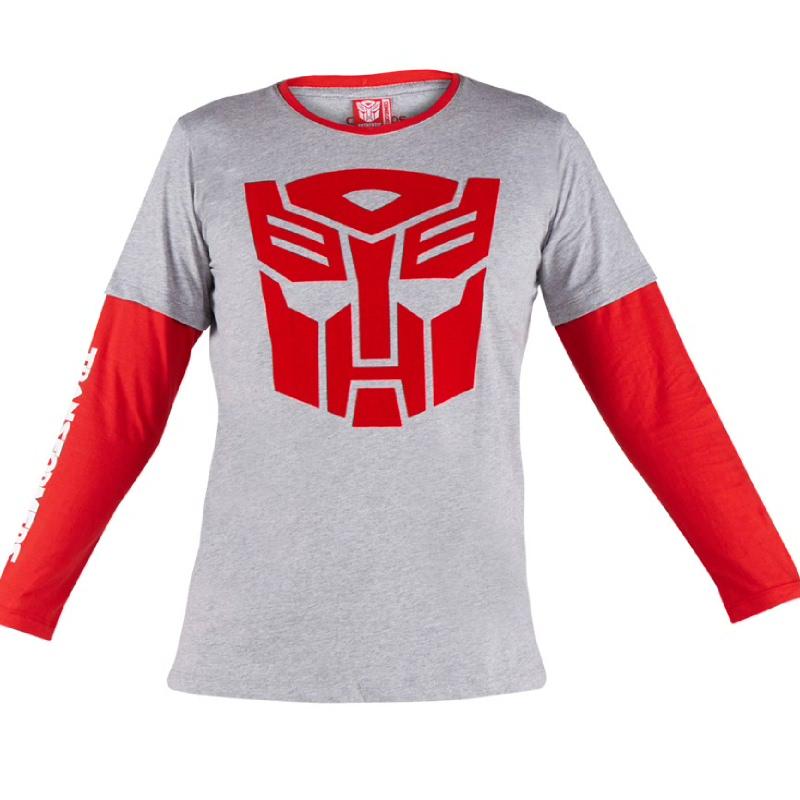 Autobots Logo T-Shirt Kids Grey