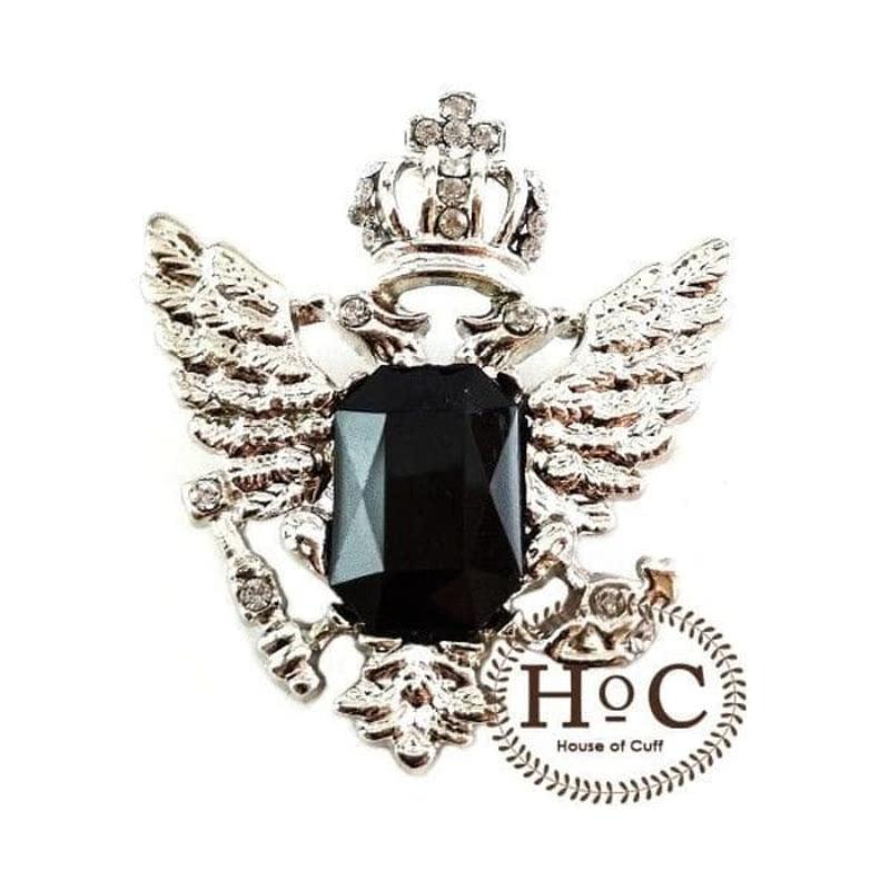 House Of Cuff Collar Bar Lapel Pin Bros Jas Wedding Best Man Imperial Black Gem Pin