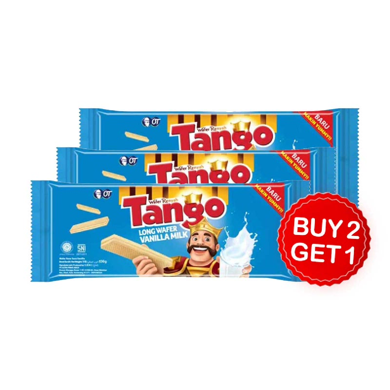 Tango Wafer Vanilla 145 Gr (Buy 2 Get 1)