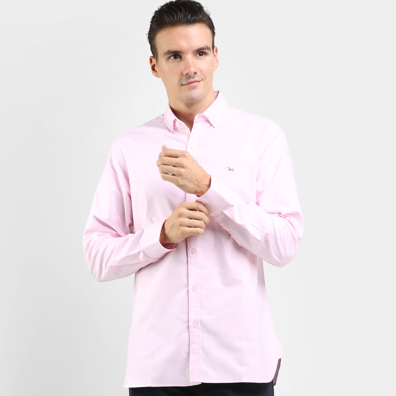 Mon Akita Hikaru Men Shirt Long Sleeve Light Pink