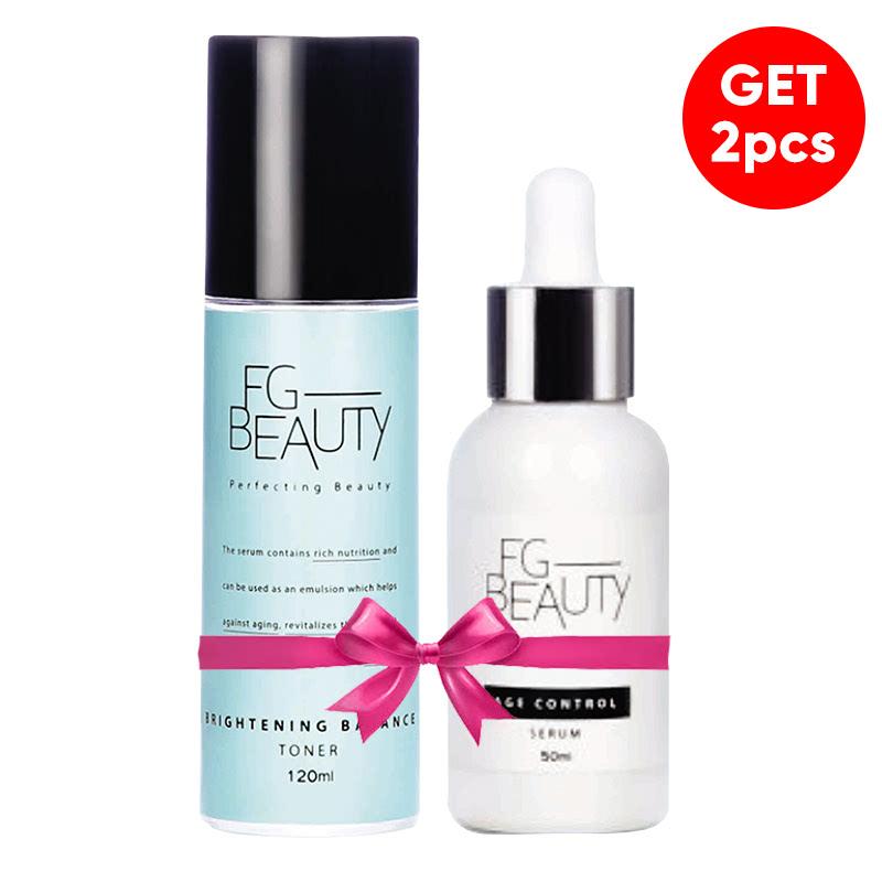 FG Beauty Brightening Balance Toner 120 Ml + FG Beauty Age Control Serum 50 Ml