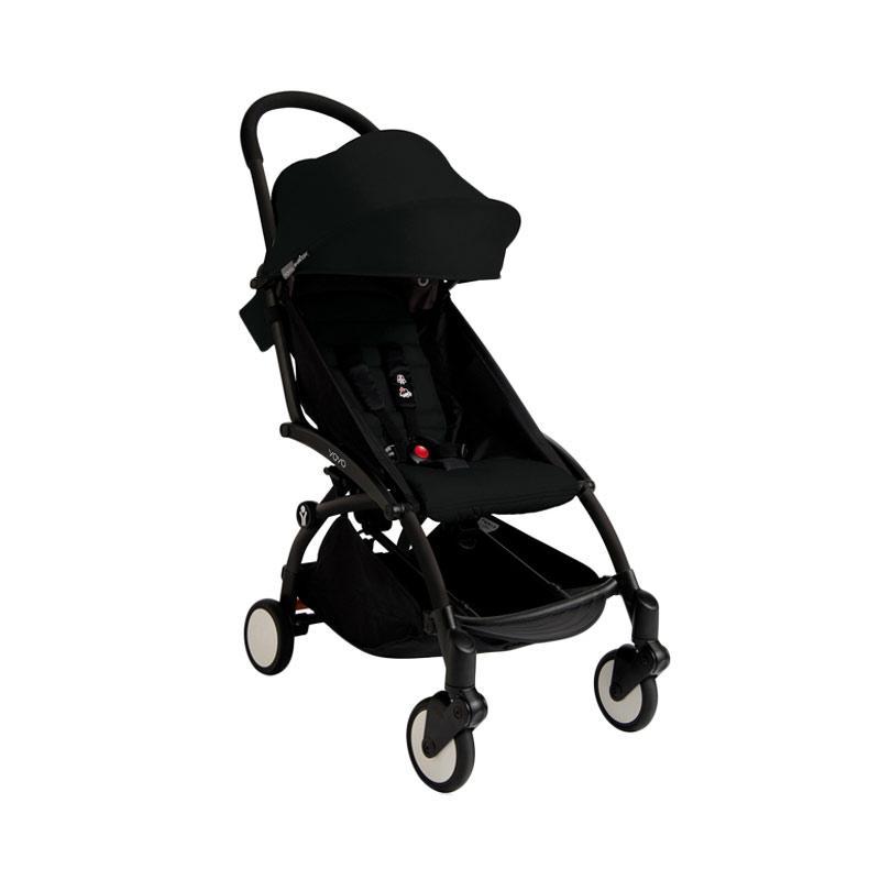 Babyzen Yoyo Stroller + Frame Black Kereta Dorong Bayi [6+] Black