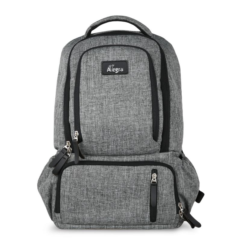 Allegra Mark Cooler Diaper Bag Backpack Grey
