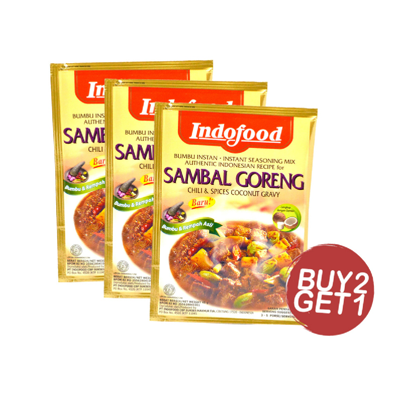 Indofood Sambal Goreng Ati 45 Gr (Buy 2 Get 1)