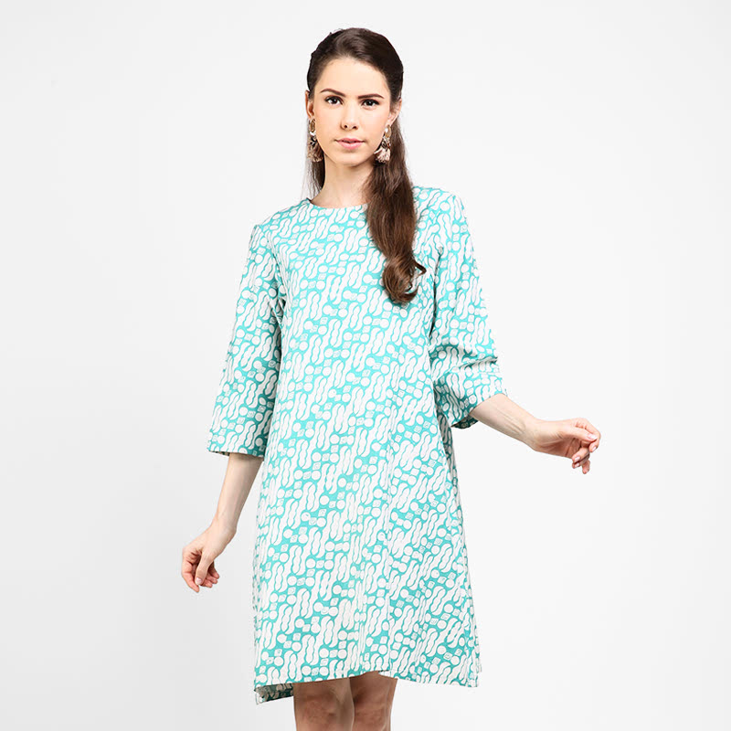 Astari Batik Dress a Line Green