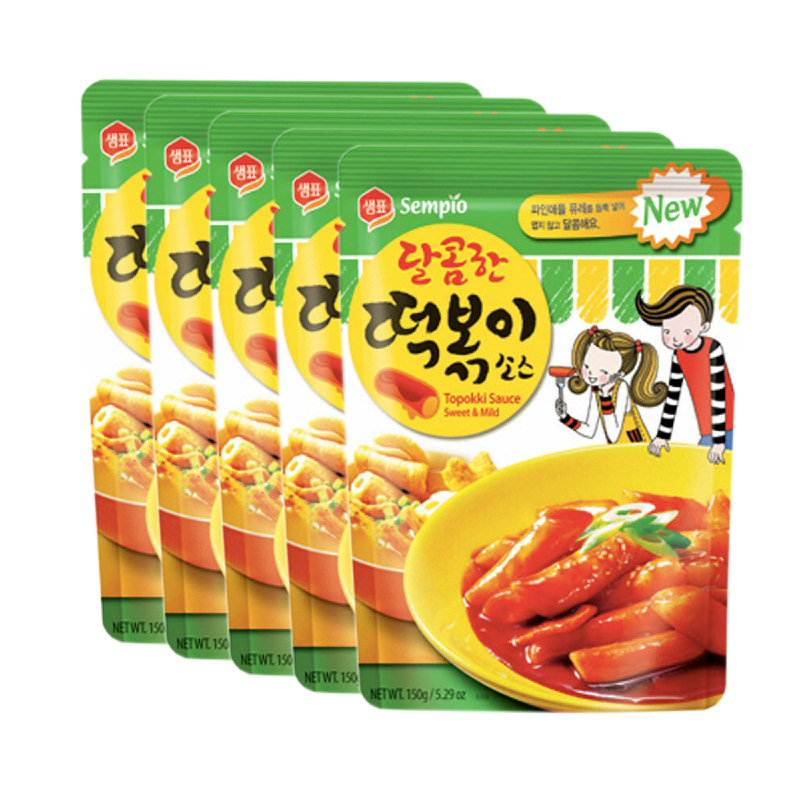 Sempio Tokpokki Sauce Sweet & Mild 150 gr 5 Pcs