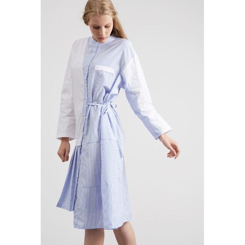 Prunall Shirt Dress Stripe Blue