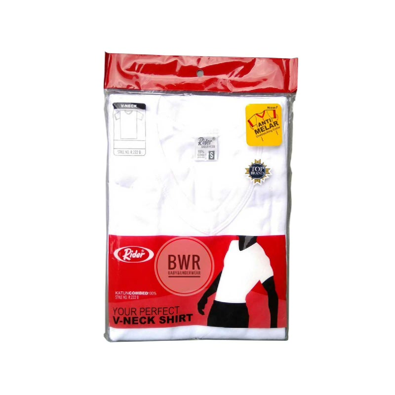 Rider T-Shirt V-Neck White Type R222BP Size S
