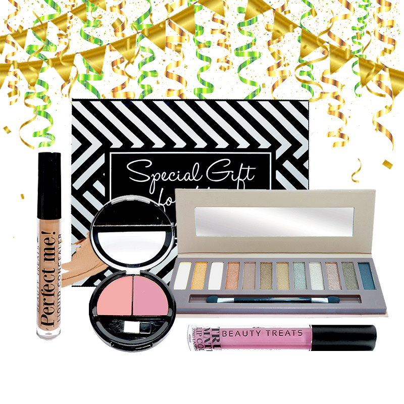 Beauty Hampers (Naked Eyeshadow Set 2 + Duo Blush No 1 + True Matte Lip Color No 3 + Perfect Me Liquid Concealer)