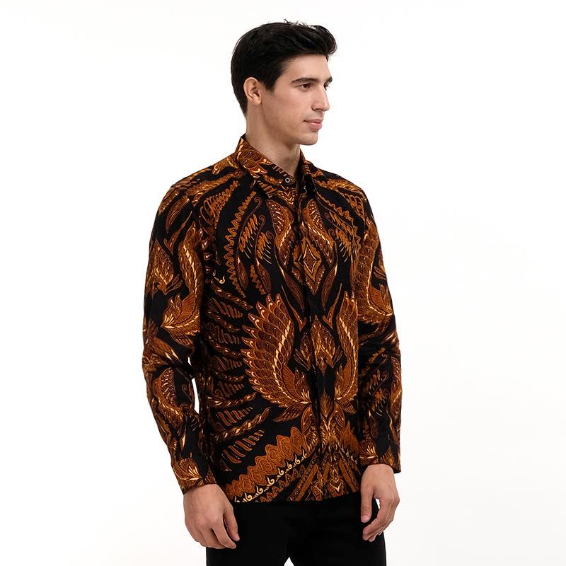 Batik Semar Full Tricot Ctn Db Vcs Sibak Semesta Shirt Black